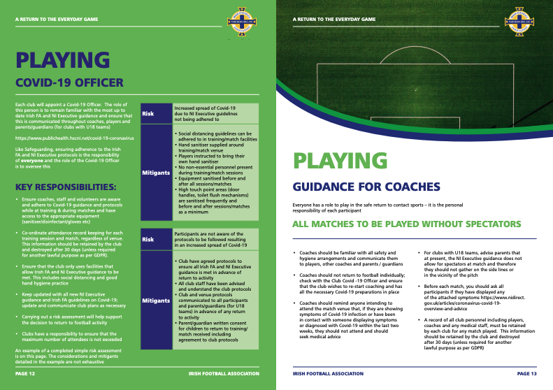 Irish Football Association - Brochure Design