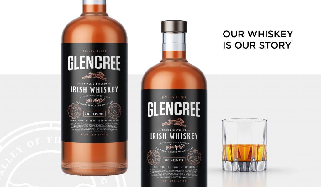 Glencree Whiskey Label Design
