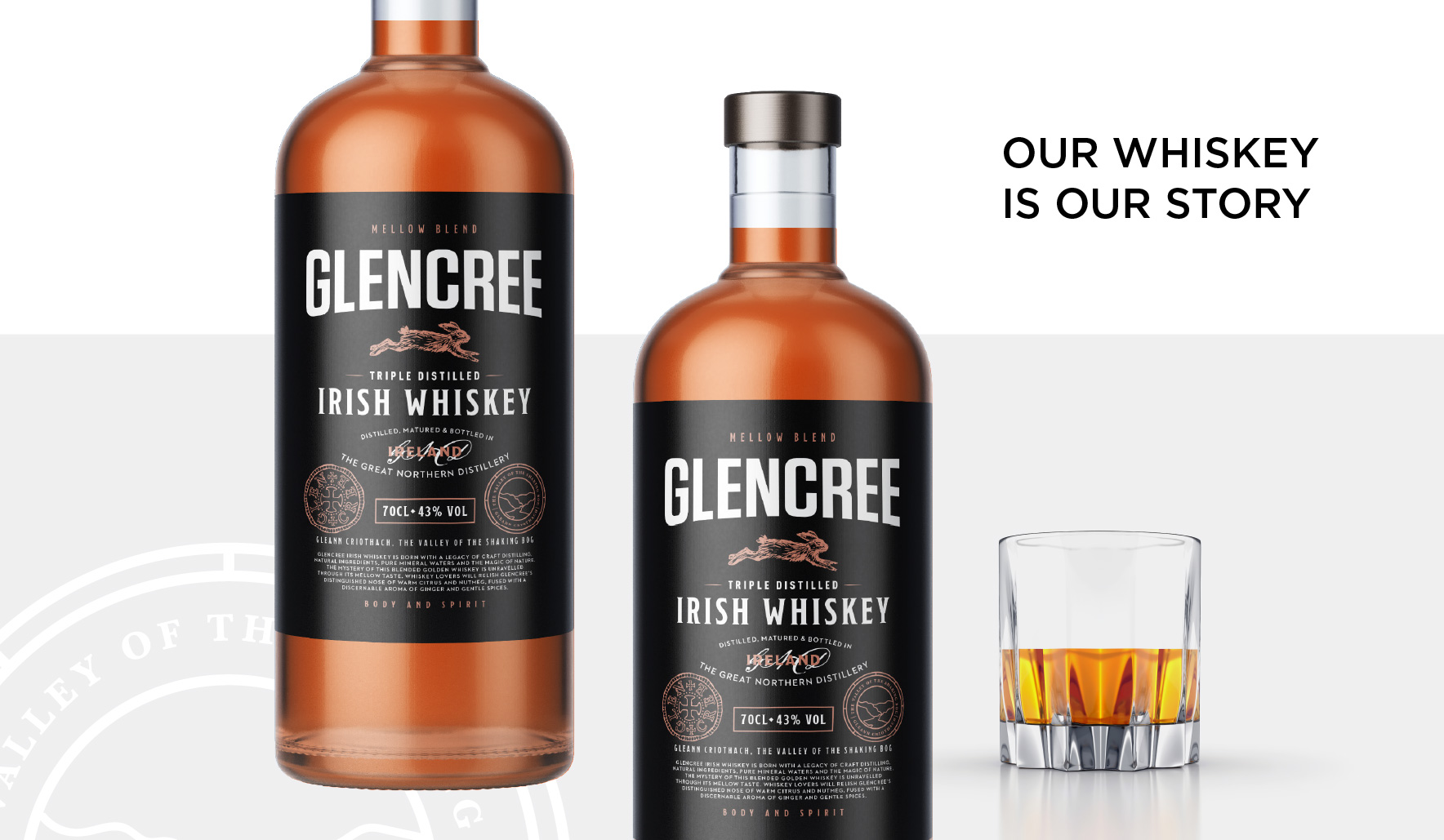 Glencree Whiskey Label Design